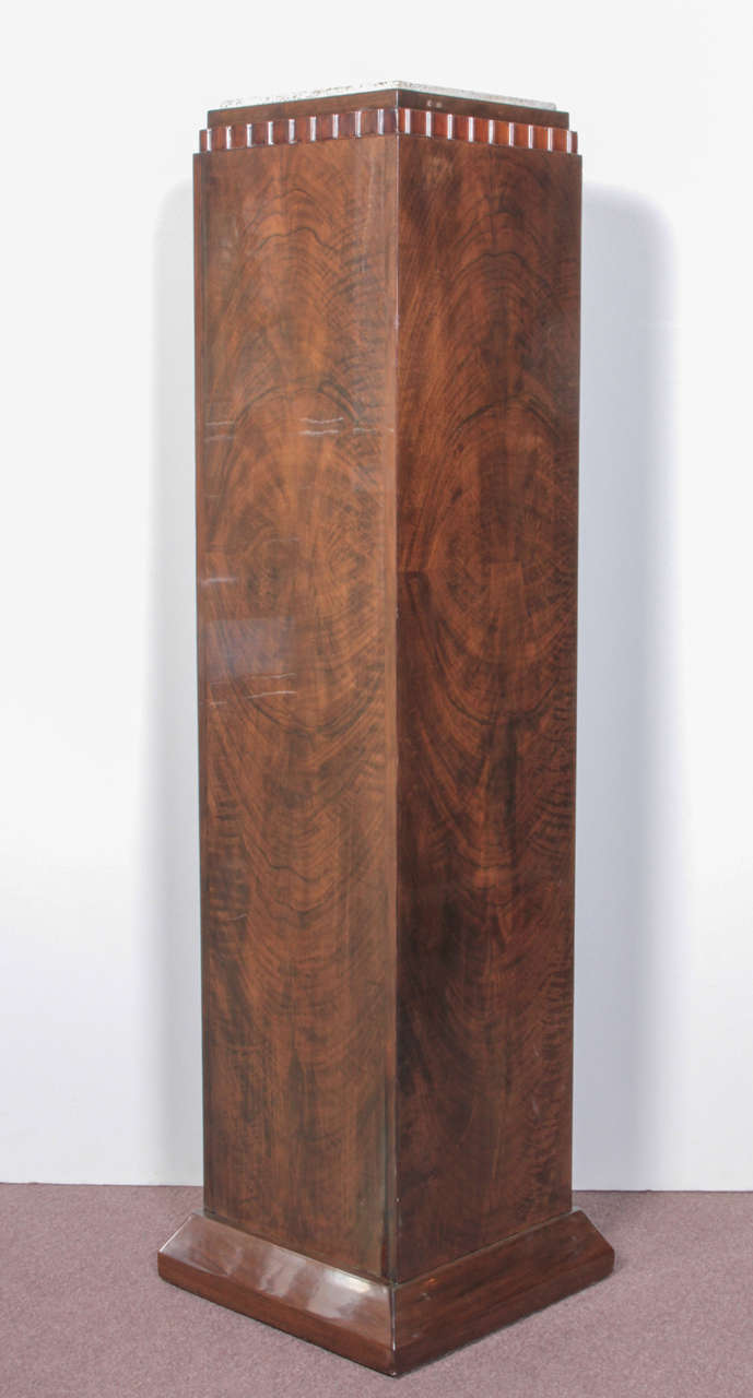 French Art Deco Tall Pedestal Column Attributed To Dim At