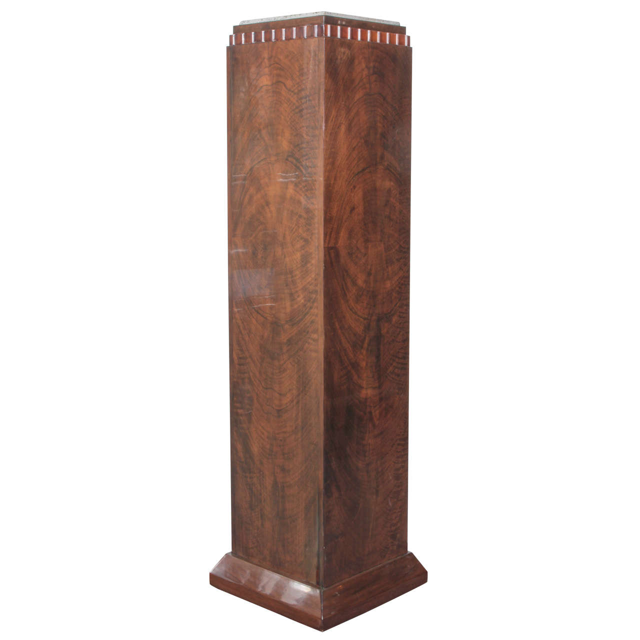 French art deco tall pedestal column attributed to dim at 1stdibs - Statue deco interieure ...