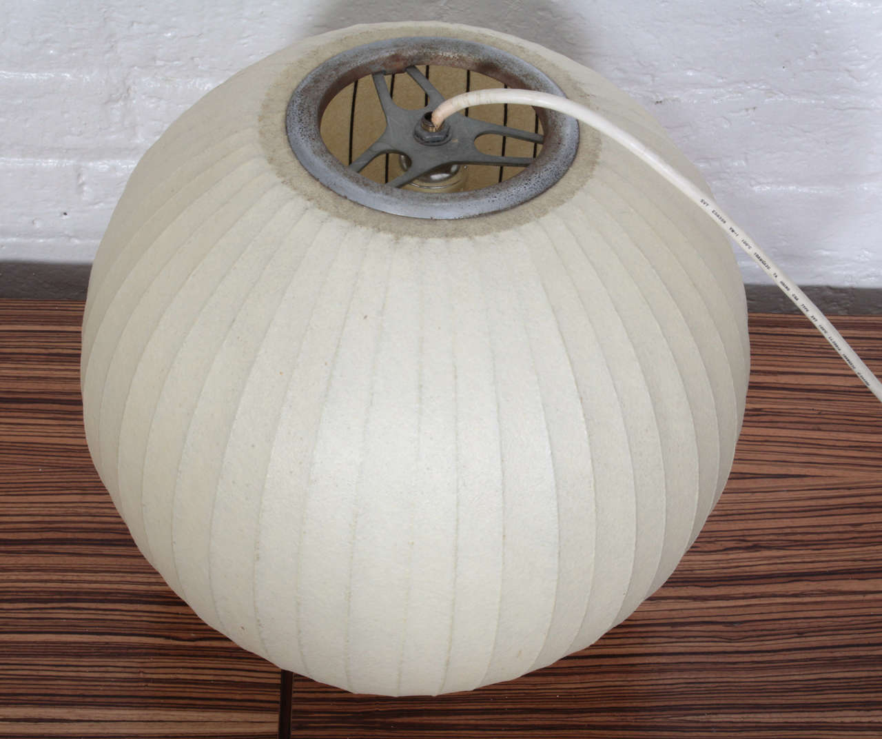 Mid 20th Century George Nelson Fibergl Bubble Lamp Manufactured By Howard Miller For