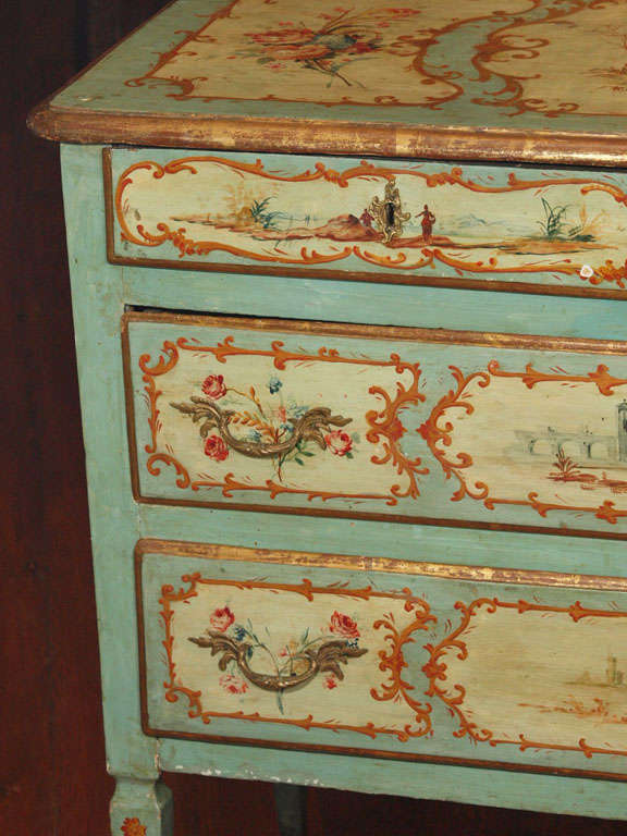 19th century painted italian commode at 1stdibs for Italian painted furniture