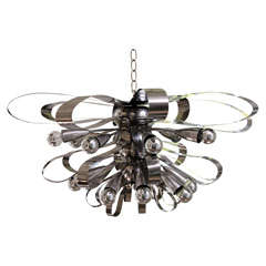 Scolari Chrome Ribbon Chandelier