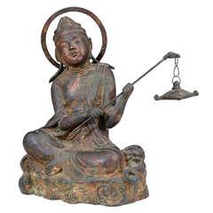 Chinese Ming Dynasty Gilt Bronze Buddha