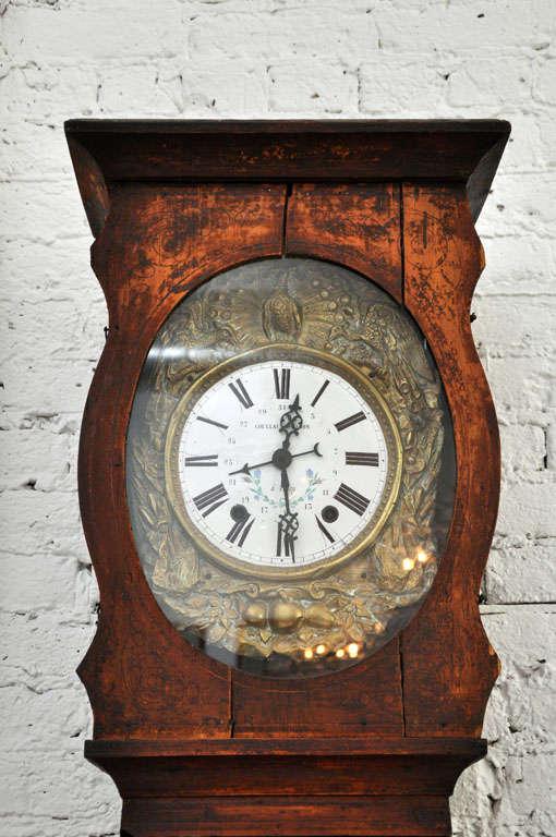 19th Century Morbier Grandfather Clock At 1stdibs