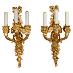 Pair of Gilt Bronze Sconces
