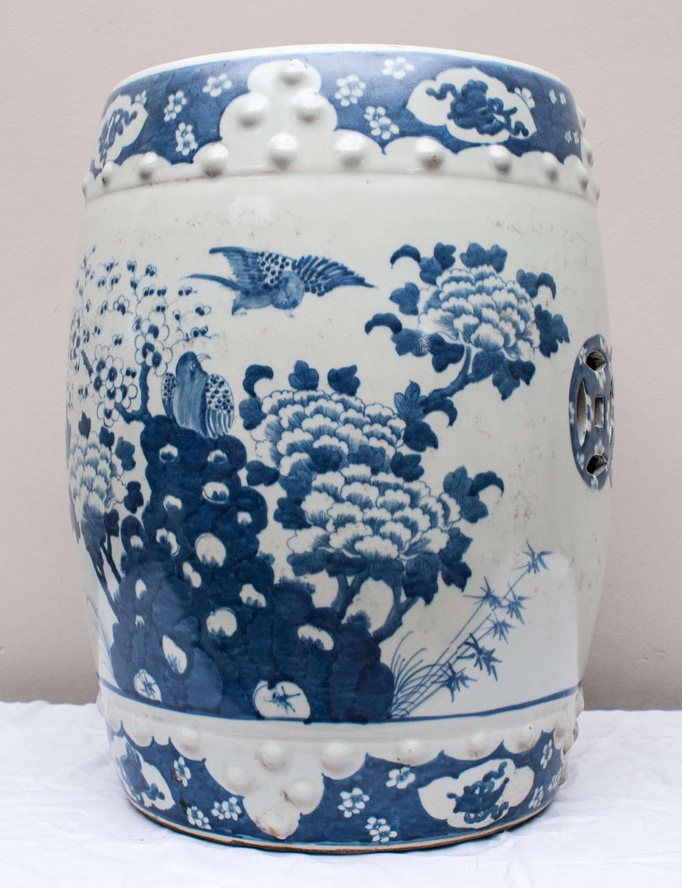 Chinese Blue And White Porcelain Garden Seat At 1stdibs
