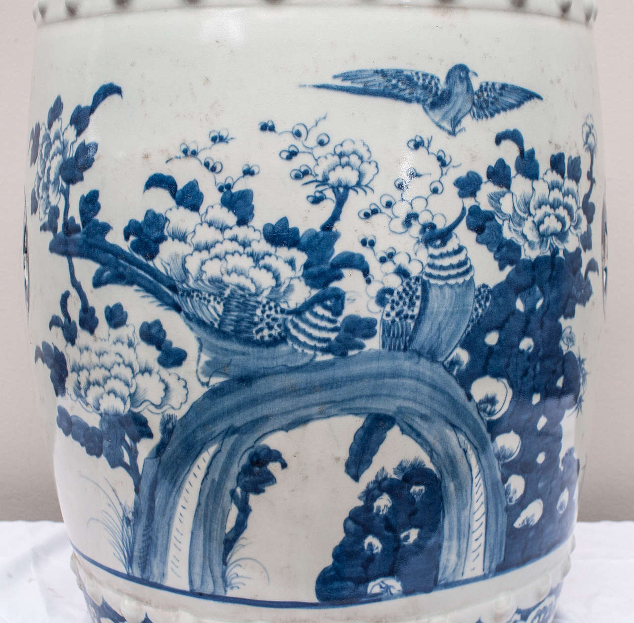 Red House Design Studio Jingdezhen Chinese Blue And White Porcelain Garden Seat Image 3