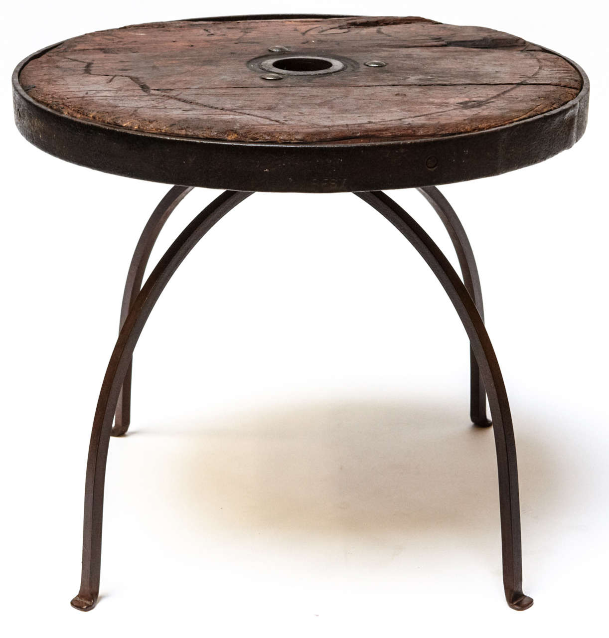 Unique Pair Of Italian Antique Wooden Wheels Table For Sale At 1stdibs