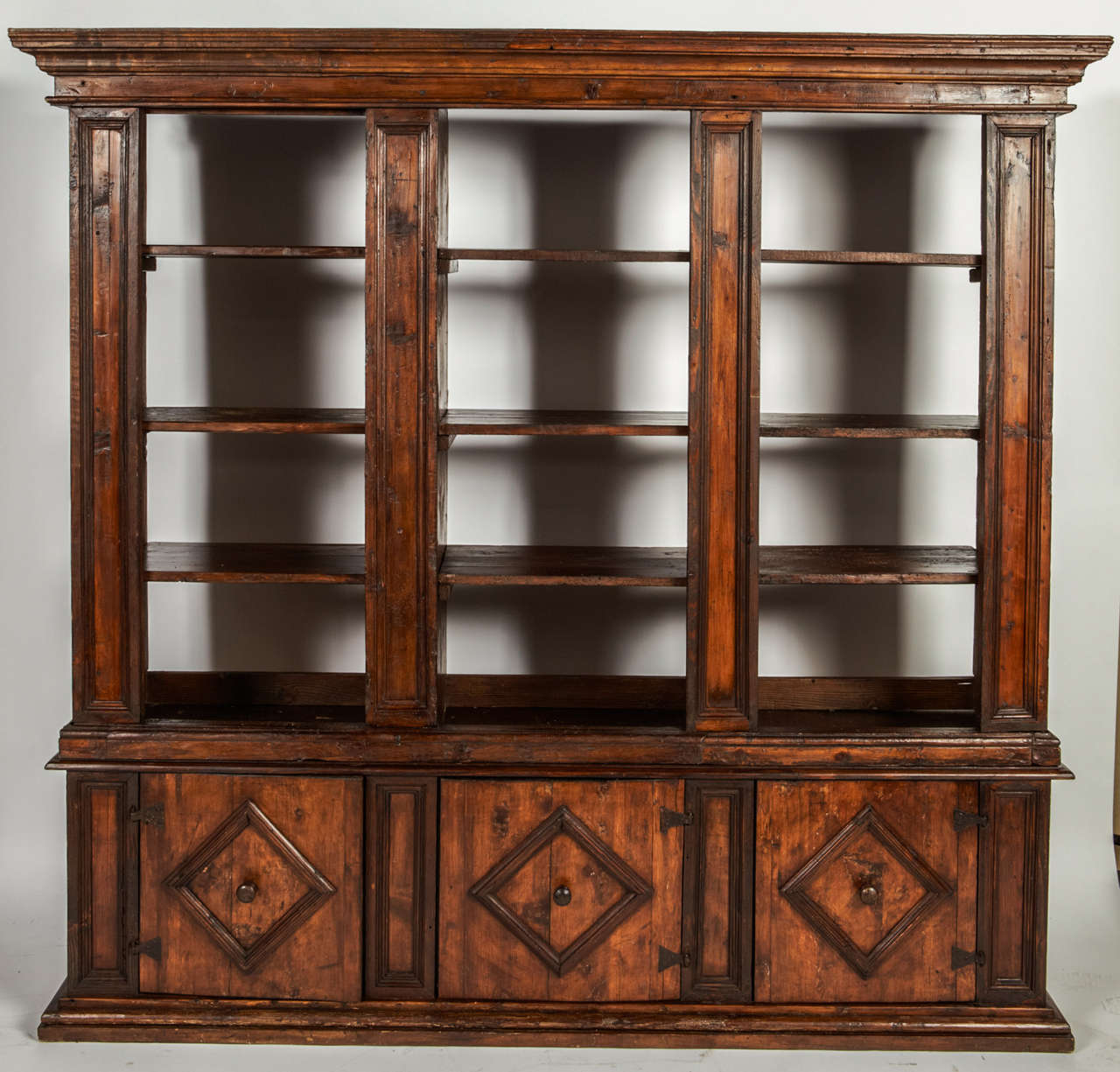 A Early 18th C. Italian Bookcase Or Dining Room Cabinet