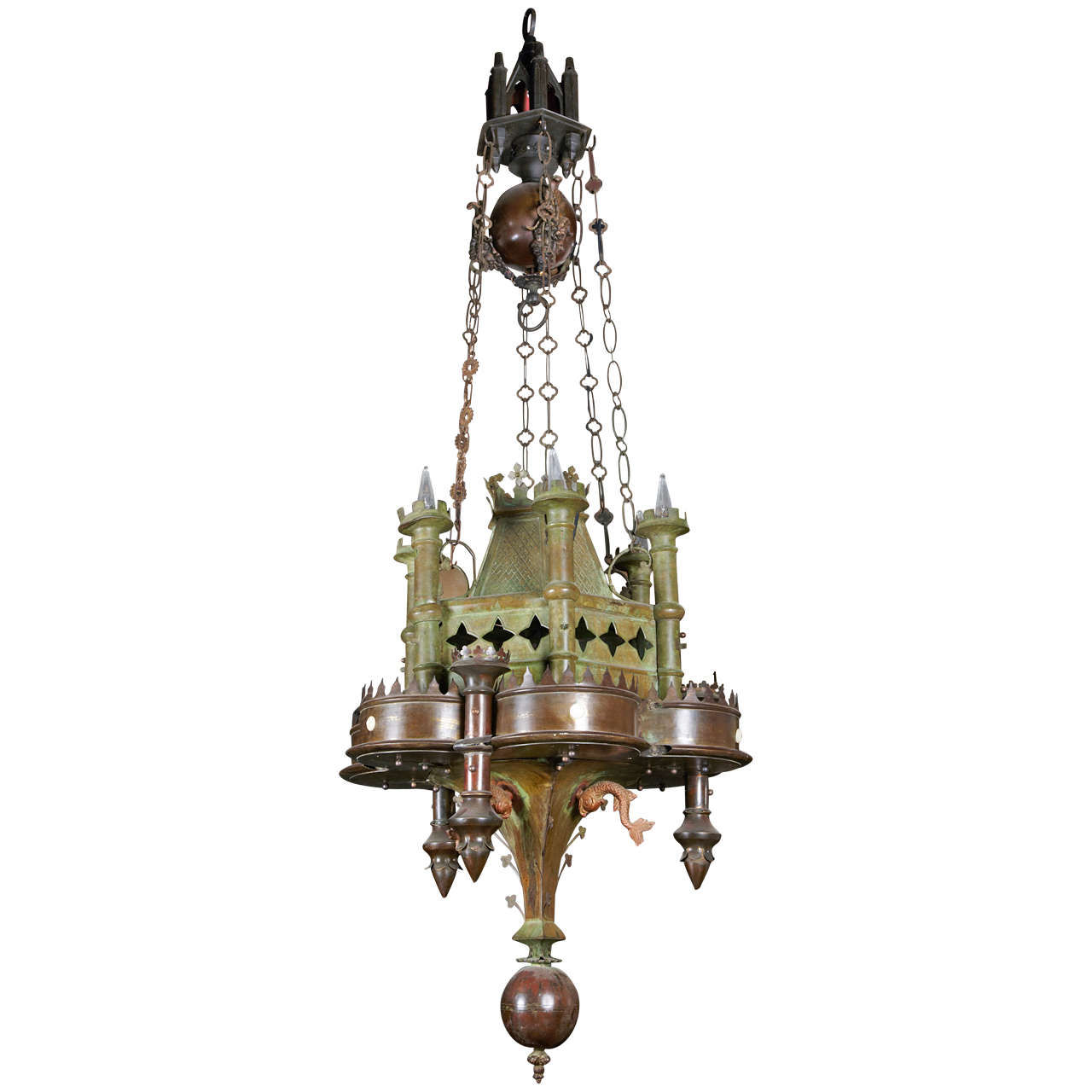 Neo Gothic Chandelier At 1stdibs