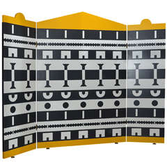 1988 Three-Panel Screen by Alessandro Mendini and Alessandro Guerriero