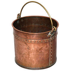 Late 18th Century English Mixed Metal Copper Apple Kettle