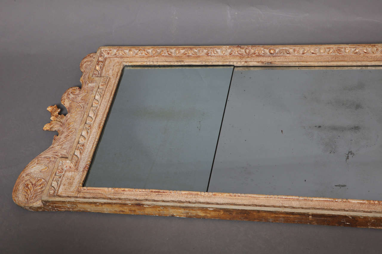 George i gesso carved over mantle mirror at 1stdibs for Mantle mirror