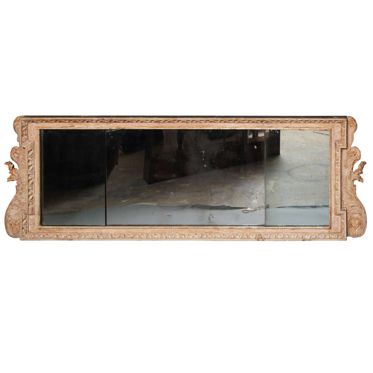 George i gesso carved over mantle mirror at 1stdibs for Fireplace mirrors