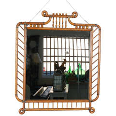 Victorian Stick and Ball Framed Mirror