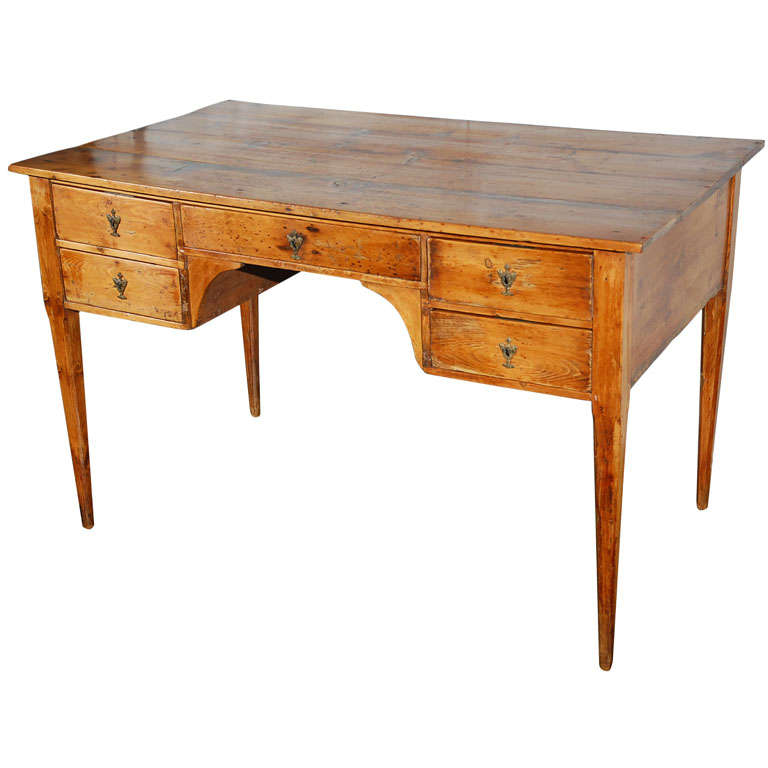 Antique spanish directoire pine bureau plat for sale at for Bureau table