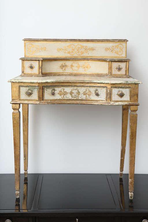 Italian Gilded Florentine Writing Table/Vanity For Sale