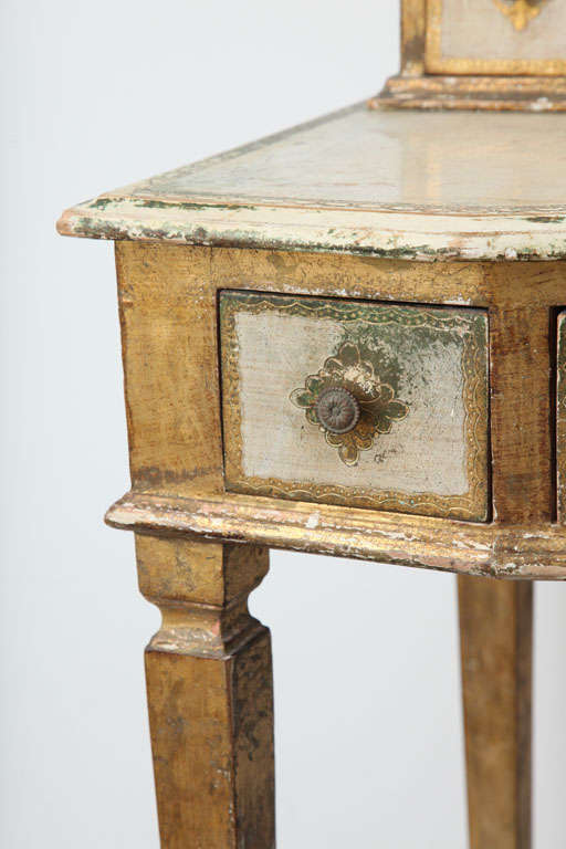 Gilded Florentine Writing Table/Vanity For Sale 1