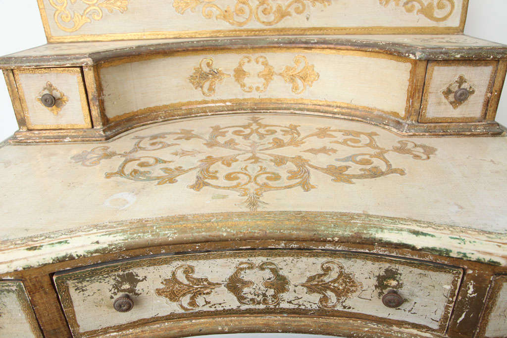 Gilded Florentine Writing Table/Vanity For Sale 3