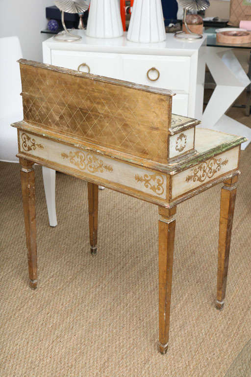 Gilded Florentine Writing Table/Vanity For Sale 4