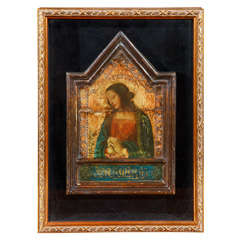 Framed, Russian Icon Panel of The Blessed Virgin