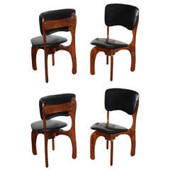 Four Rosewood Side Chairs by Don Shoemaker