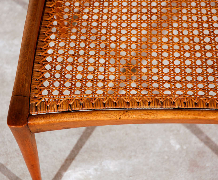 Gazelle Wood and Cane Arm Chair by Dan Johnson For Sale 3