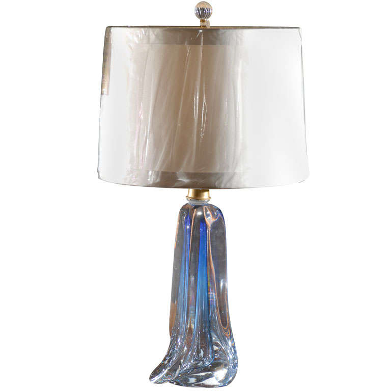 Val st lambert glass lamp for sale at 1stdibs for Chair table lamp yonge st
