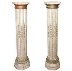 Pair of 19th century wood columns