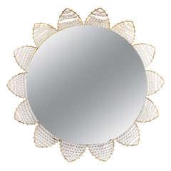 Mid Century Flower Form Backlit Mirror by Hillebrand