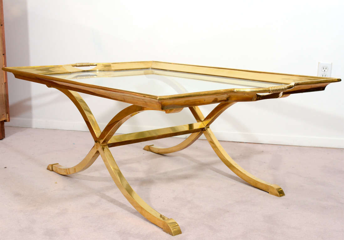 Mid Century Brass And Glass Coffee Table By La Barge Image 7