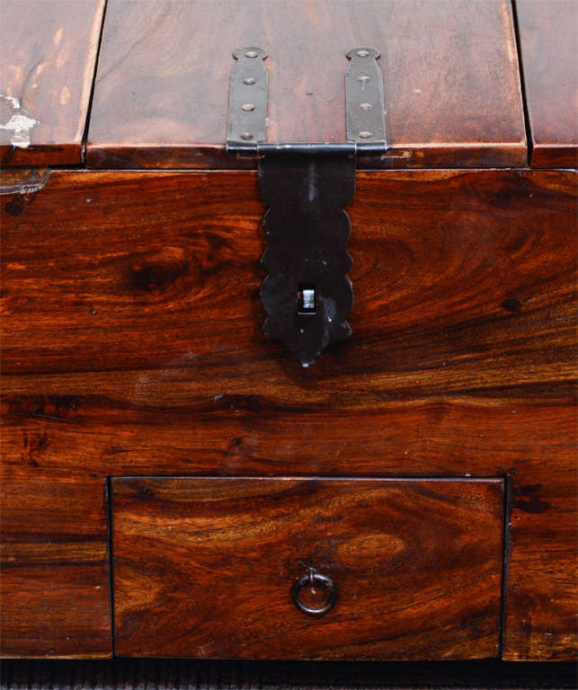 Vintage Reclaimed Wood Chest or Trunk with Metal Hardware image 3