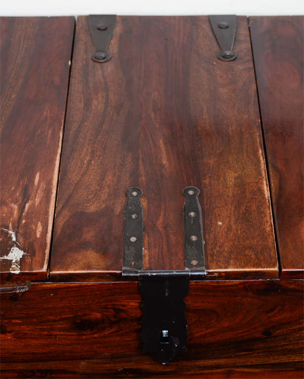 Vintage Reclaimed Wood Chest or Trunk with Metal Hardware image 4