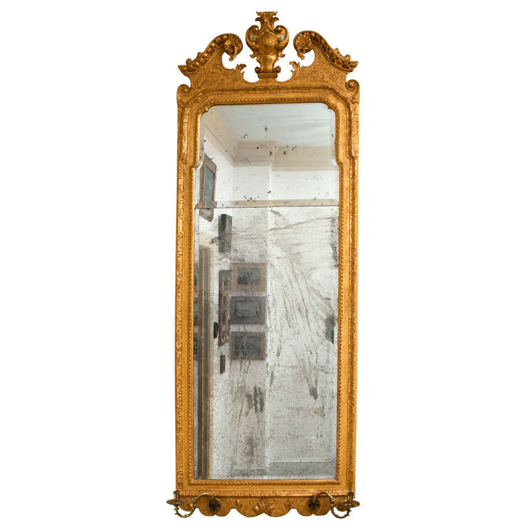 Early Queen Anne Tall Pier Mirror At 1stdibs