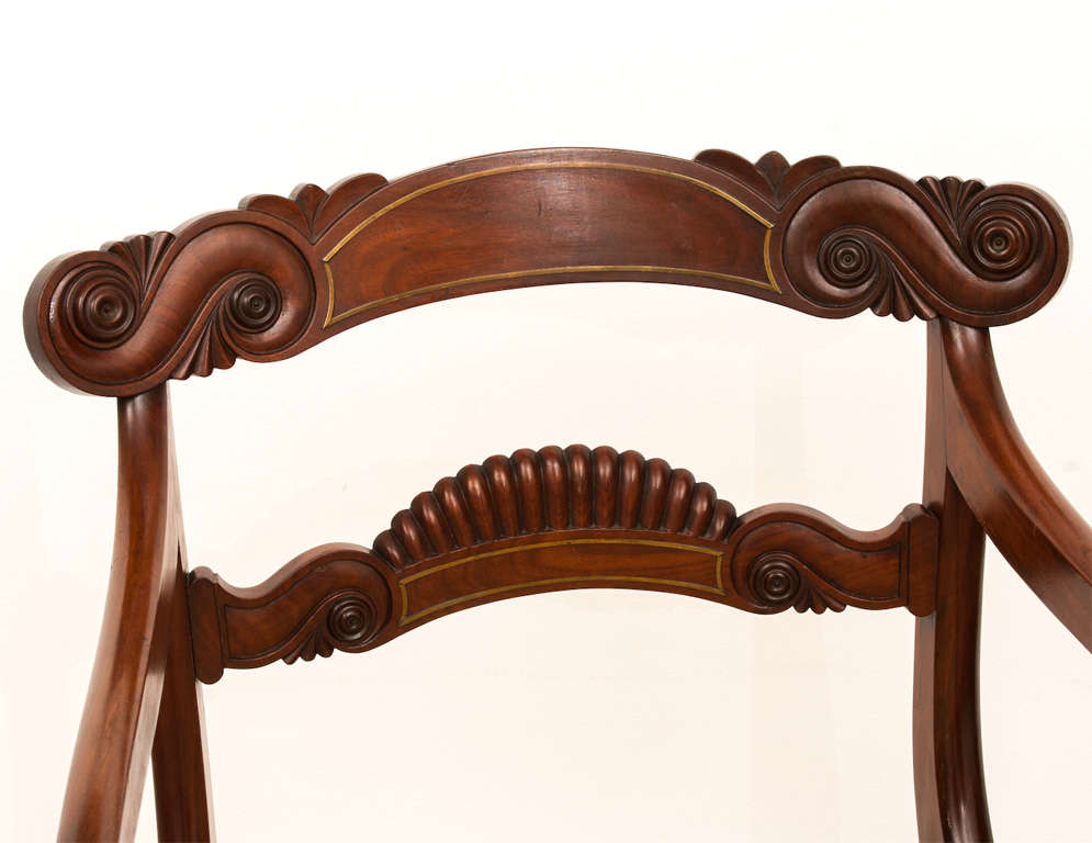Set Of 8 William Iv Dining Chairs At 1stdibs