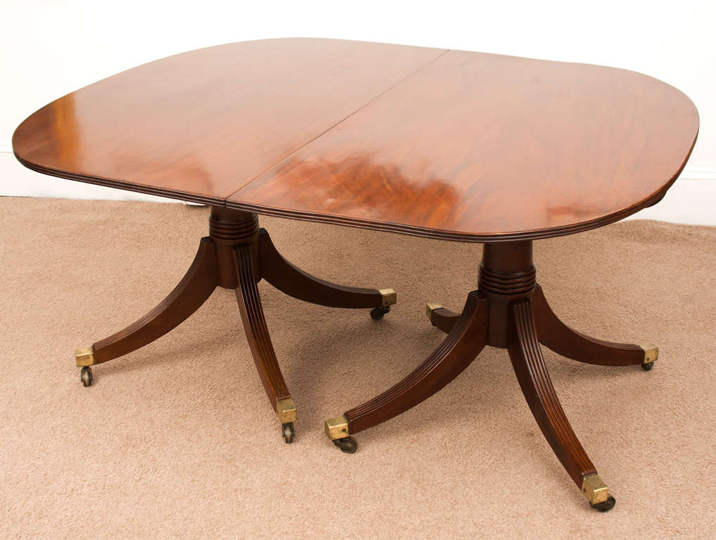 Regency 2 pedestal dining room table at 1stdibs for Regency dining room