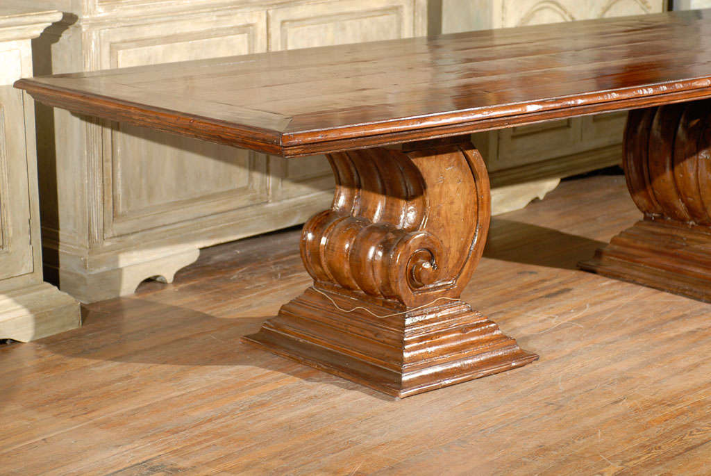 A Dining Room Or Conference Table Made Of Old Peroba Wood. This Brazilian  9.5 Foot