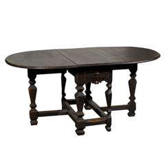18th Century Swedish Period Baroque Gateleg Table