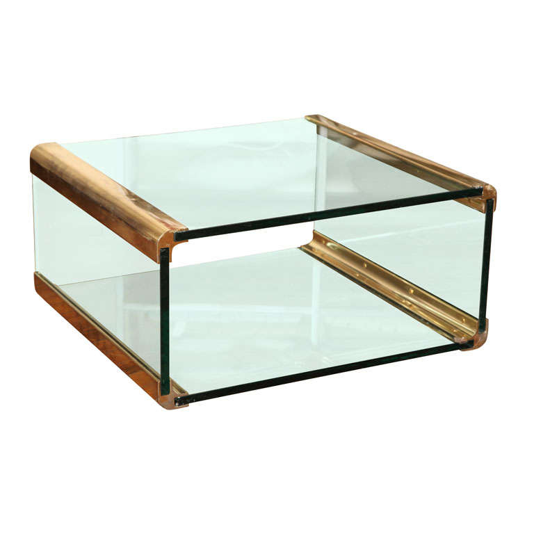Bronze And Glass Coffee Table: Bronze And Glass Coffee Table At 1stdibs