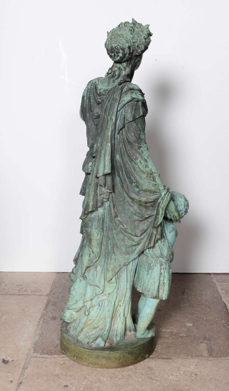 20th Century Four Bronze Figures Representing the Seasons For Sale