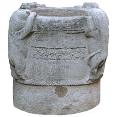 Rare Carved Stone Vessel