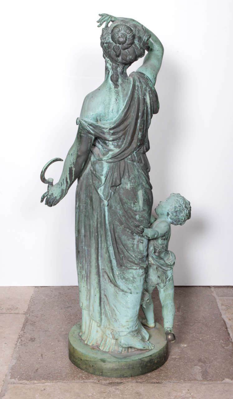 Bronze Figure of a Woman and Child Representing Spring For Sale 1