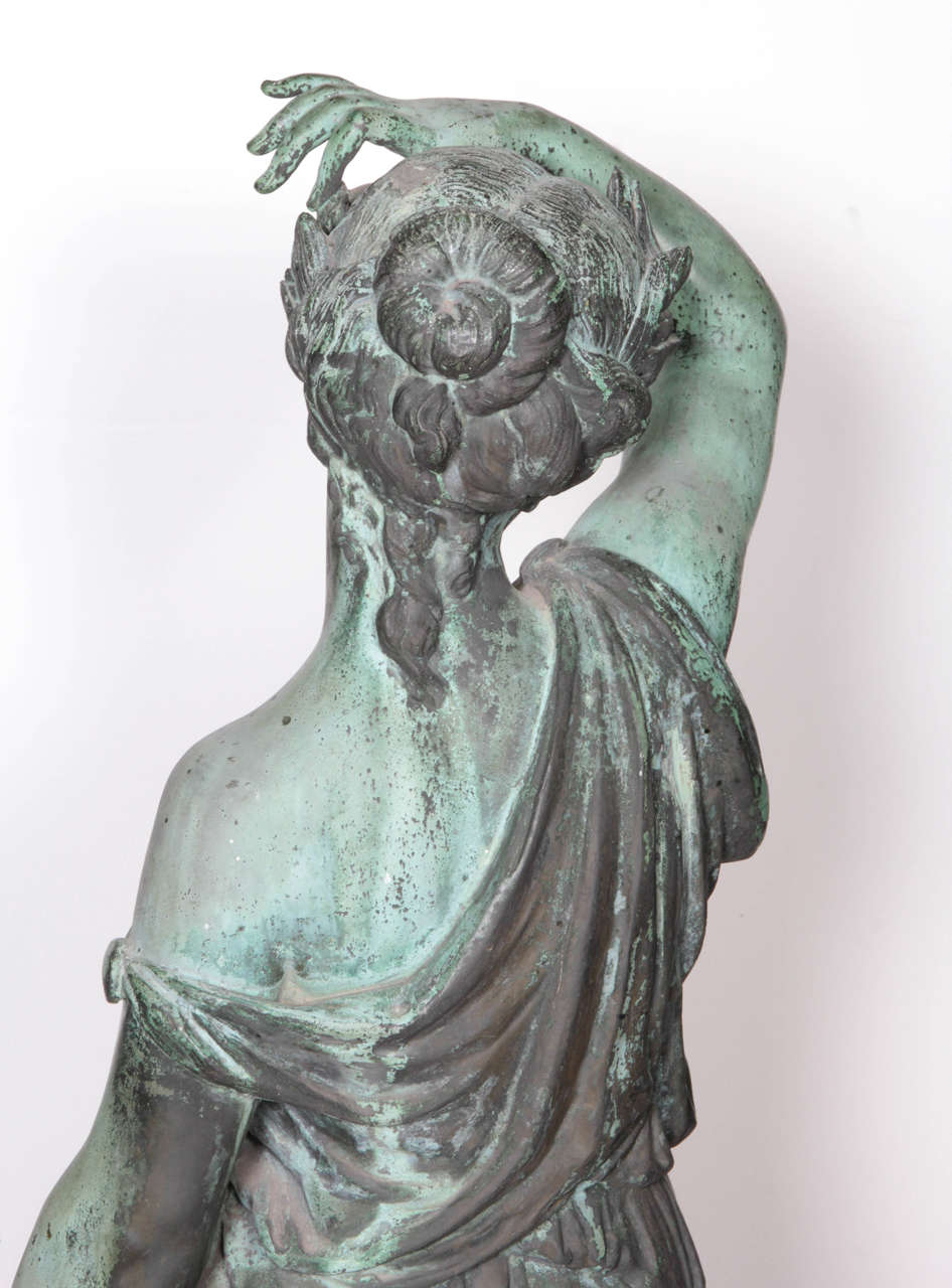 Bronze Figure of a Woman and Child Representing Spring For Sale 2