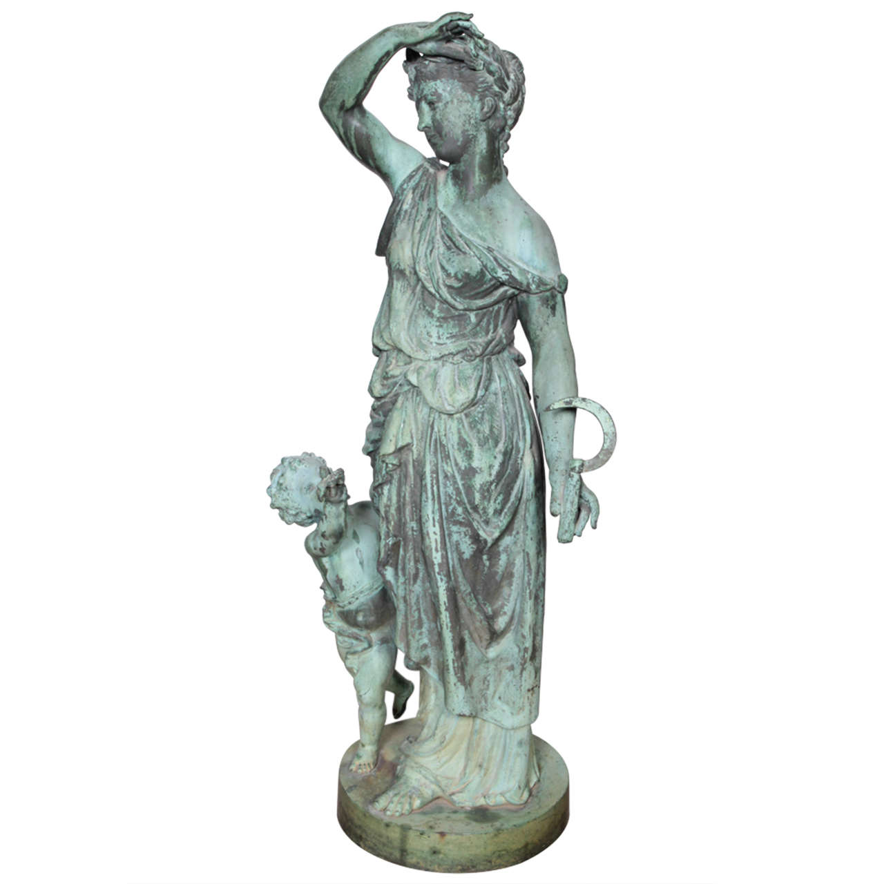 Bronze Figure of a Woman and Child Representing Spring For Sale