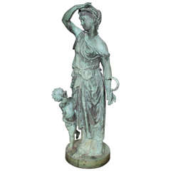 Bronze Figure of a Woman and Child Representing Spring