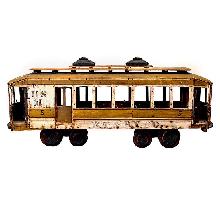 1920 S Folk Art Miniature Trolley Car At 1stdibs