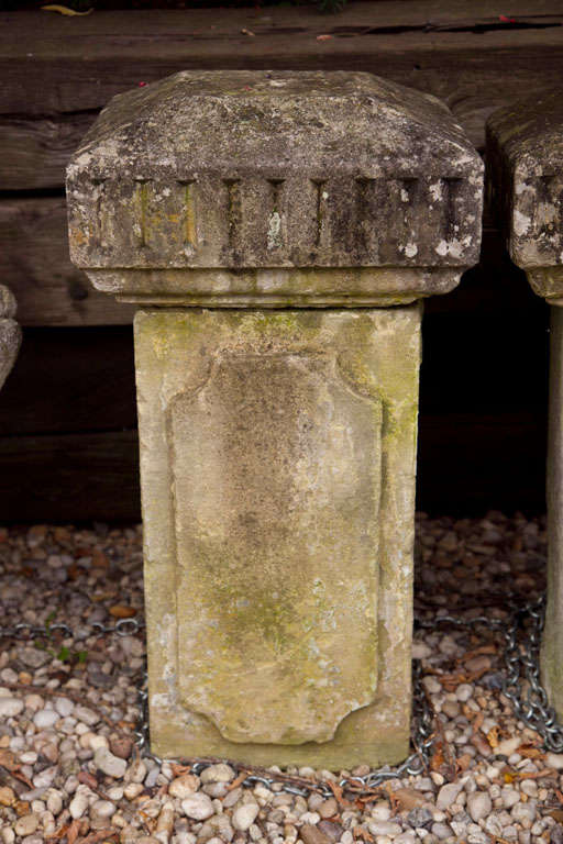 French Carved Stone Columns For Sale