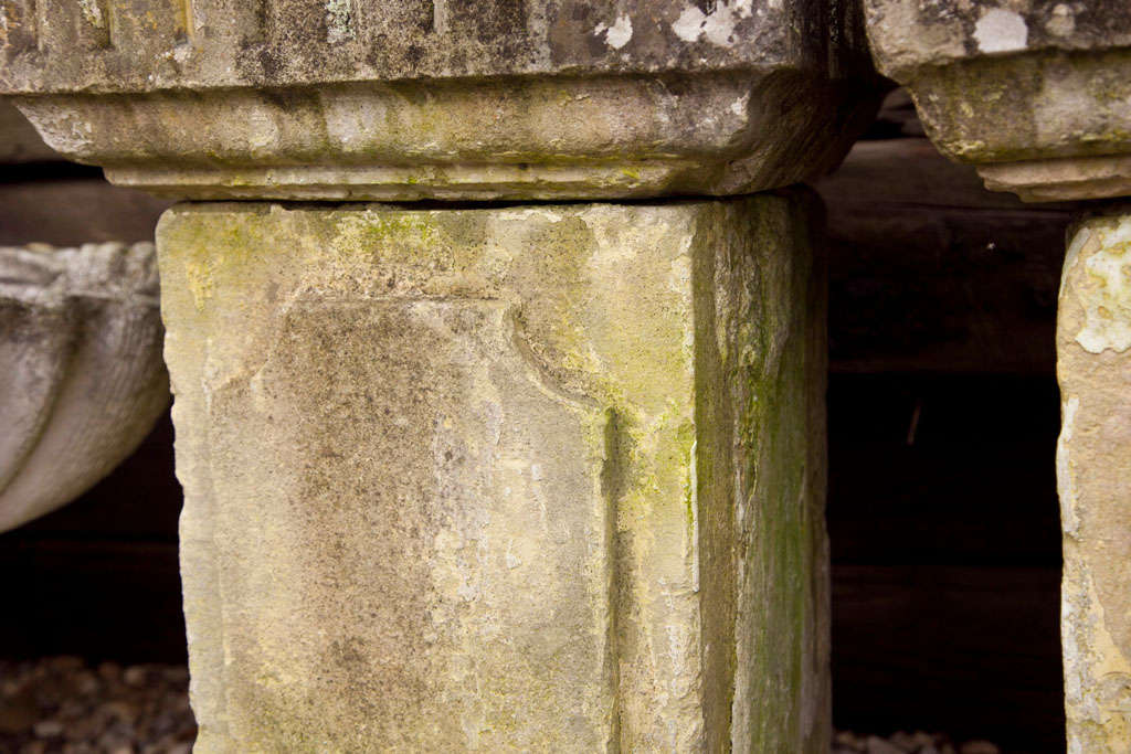 Carved Stone Columns For Sale 1