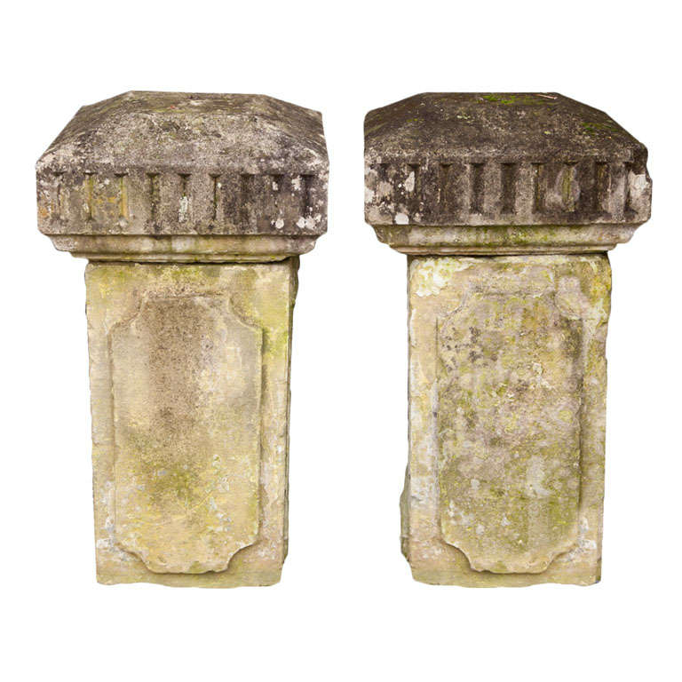 Carved Stone Columns For Sale
