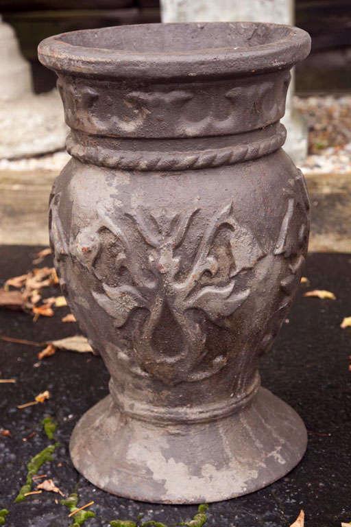 Pair of Cast Iron Urns 5