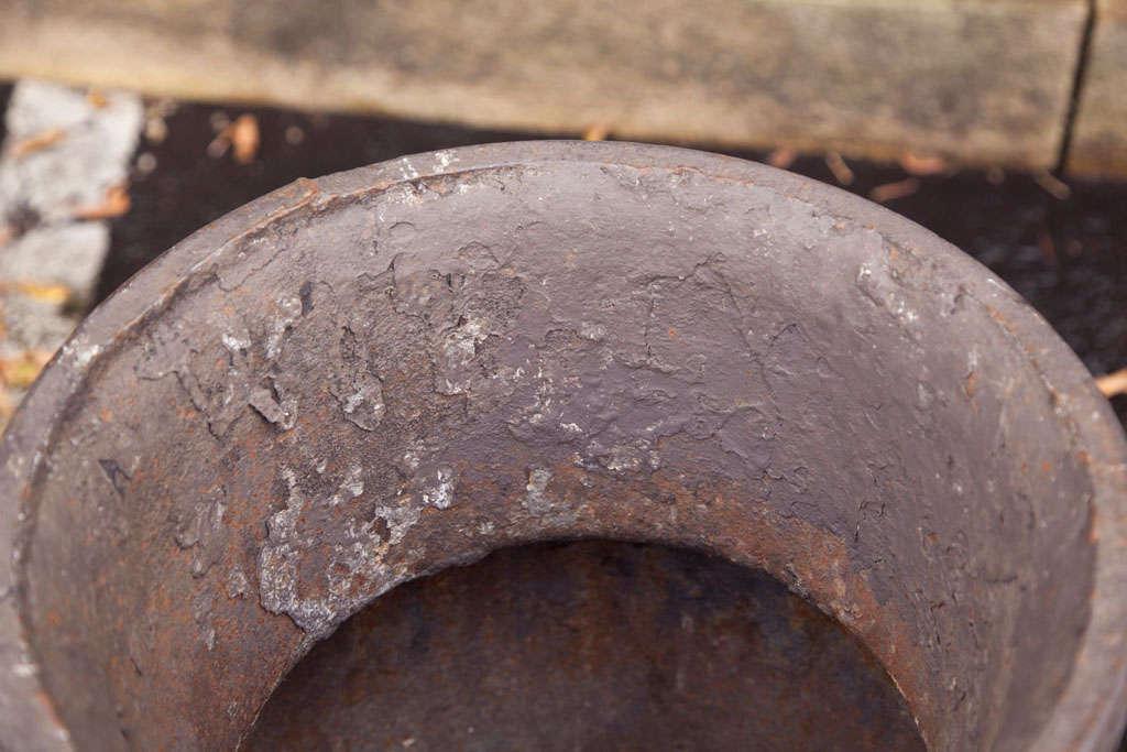 Pair of Cast Iron Urns 6